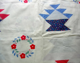 Vintage fabric quilt quilted