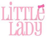 Little Lady Nursery Print: 5x7 (you choose colors)