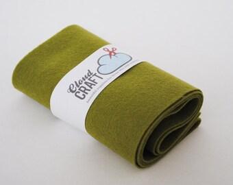 Wool Felt Roll - Olive Green - 12 x 90cm - Popeye's Gal