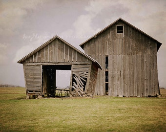 Gray Barns Photo, Rustic Farmhouse Photography, Weathered Wood Barn Print, Fixer Upper Style, Farm Country Home Decor Wall Art Farmhouse