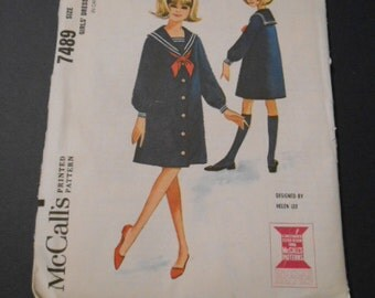 McCalls 7489,       Sailor dress,   size 12