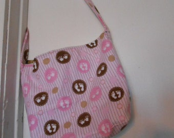 Handmade Baby Girl print, over the shoulder purse, or diaper bag