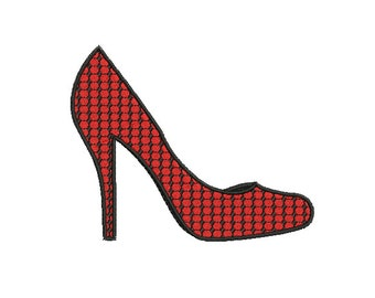 Instant download Pump shoes machine embroidery design.
