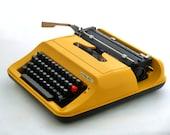Vintage Typewriter, Yellow Typewriter, Manual Typewriter Privileg 350T, Travel Typewriter, Office Home Decor, Working Typewriter
