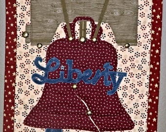Quilted Wall-Hanging: Liberty Bell -  Liberty