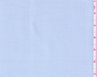 "60"" Light Blue Cotton Pique Fabric-15 Yards Wholesale By The Bolt"