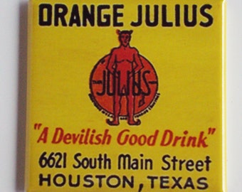 Orange Julius Fridge Magnet