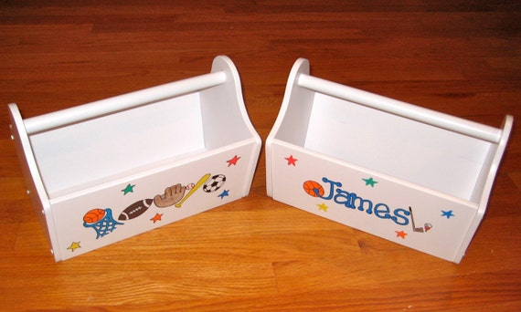 Personalized Toy Caddy or Desk Organizer by ArtworksByAmy on Etsy