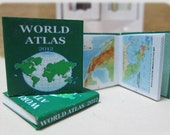 "Dollhouse Miniature ""World Atlas"""