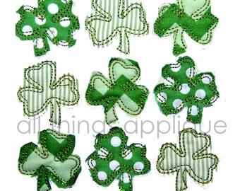 Bunch of Shamrocks Applique Design  - St. Patrick's Day Applique Design - INSTANT DOWNLOAD
