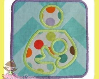 Breastfeeding Symbol Applique design