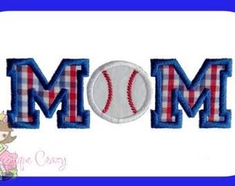 Baseball Mom  Applique design