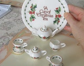 Cup of Christmas Tea Doll Size China Dishes