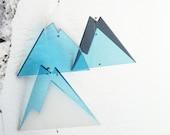 Scandinavian minimalist iceberg design mobile, lasercut. LIMITED EDITION