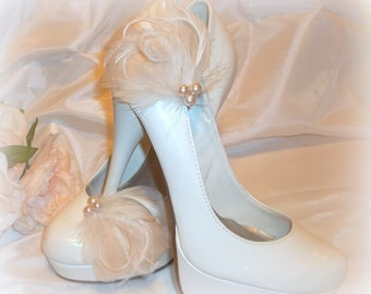 Shoe Clips, Bridal Shoe Clips, Wedding Shoe CLips, Clips for Bridal Shoes, Wedding shoes, Feather Shoe Clips, Shoes Clip,Bridal Shoe Clip