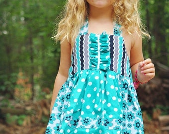 Kids Dress Pattern, pdf sewing pattern, INSTANT DOWNLOAD,Toddler Pattern,  Girls Dress Sewing Pattern, Apron Dress