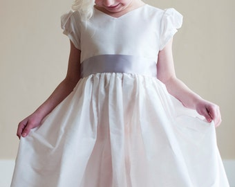 First Communion dress in white or ivory