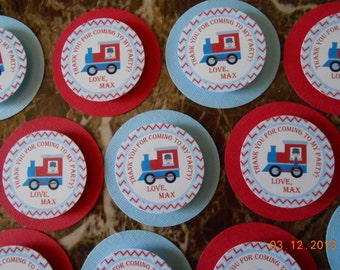 Train Favor Tags - Train Thank You Tags - Train Birthday - Train Party - Train Party Decoration - Train Birthday Decoration-Train Decoration
