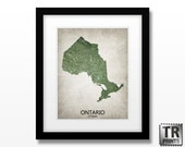 Ontario Canada Map Print - Home Is Where The Heart Is Love Map - Original Custom Map Art Print Available in Multiple Sizes & Color options