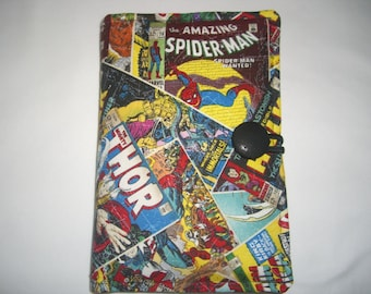 Kindle Fire 5th Generation Cover -Kindle Fire HD 7 - Kindle Fire HD 6 - Kindle Voyage - Marvel Comics  Spider-man, Iron Man, Wolverine, Hulk
