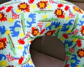 Boppy Pillow Cover: Baby Zoo