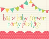 "Party Pack SALE - ""Its a Boy"" or ""It's a Girl"" Baby Shower Banner, 12 Cupcake Toppers & Door Sign - Pick Any Baby Theme in Shop"