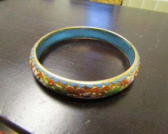 Vintage Floral Bangle, Floral Bracelet, Vintage Jewelry