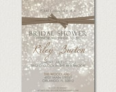 Bokeh Bridal Shower Invitations