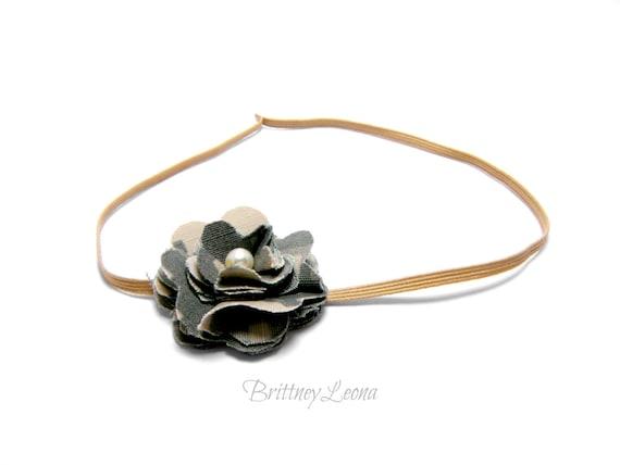 Army ACU Fabric Flower Headband by BrittneyLeona on Etsy