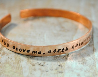 SALE Mantra Quote Cuff