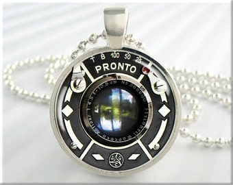 Vintage Camera Lens Necklace Resin Pendant Charm Pronto Camera Lens Picture Jewelry (590RS)