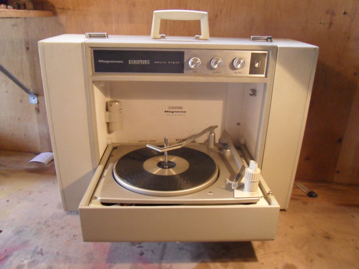 Vintage 1970s Magnavox Portable Stereo Record By