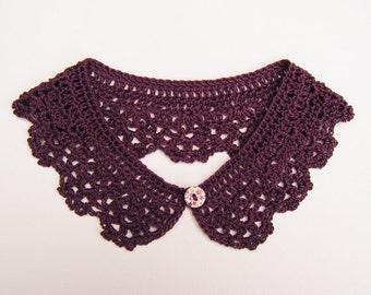 Purple Detachable Crochet Collar