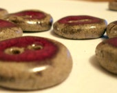 Special order for Lonnie: 15 red on grey  Ceramic Buttons