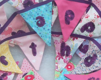 Happy Birthday Bunting - Personalised to Order