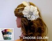 Bridal Fascinator, Bridal Hair Flower, Bridal Headpiece, Bridal Hair Fascinator, Wedding Headpiece, Bridesmaid Flowers, Choose Color