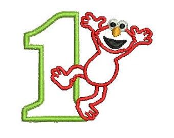 Elmo Applique, Elmo Birthday, Sesame Street, Applique, Embroidery Design (92) Instant Downloads