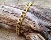 Gold Chain Bracelet, Chain Bracelet, Minimalist Bracelet, Golden Brass Bracelet