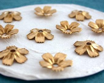 Flowers, Vintage Style,Supplies,Scrap booking,Collage,Craft Supplies,Jewelry Supplies,Made in USA,Wedding Supplies,Brass Flowers, STA-074