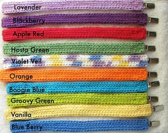 Pacifier Clips / Variety of Colors / Velcro Fastener for Pacifier /  Baby Pacifier Strap
