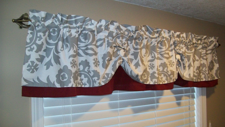 Valance Window Curtain Swagged Swag Custom Bathroom Kitchen