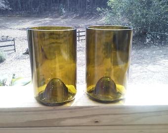 Wine bottle Tumblers Beer Bottle Drinking Glass OOAK