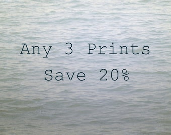 Custom Photograph Set, Your Choice of 3 Photos, Save 20%, Fine Art Photography Prints, Nature Picture Set