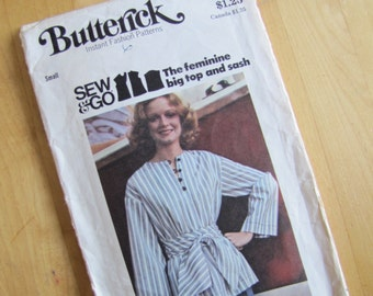 Uncut Butterick 4151 - Top and Sash - Size Small