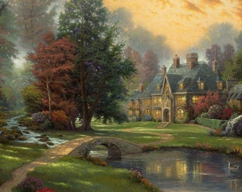 Instant Download Counted Cross Stitch PDF Pattern N20ld - House by the pond