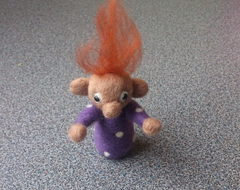 Pixie monkey needle felted miniature fantasy soft sculpture under 25