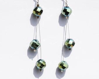 Golden Drops - Swarovski Earrings