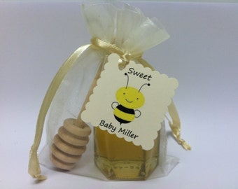 """24 Qty  """"Sweet Baby -------"""" Personalized Honey Shower Favors"""