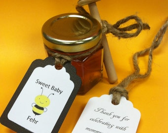 30 Qty Baby Shower Honey Favors with Personalized Tags