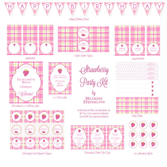 Strawberry Party Kit by Bloom